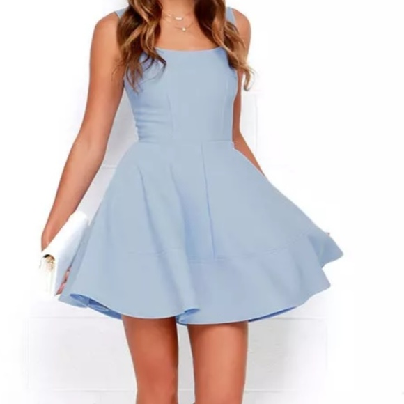 8e5d00bd3f NWT Lulu s Periwinkle Skater Dress
